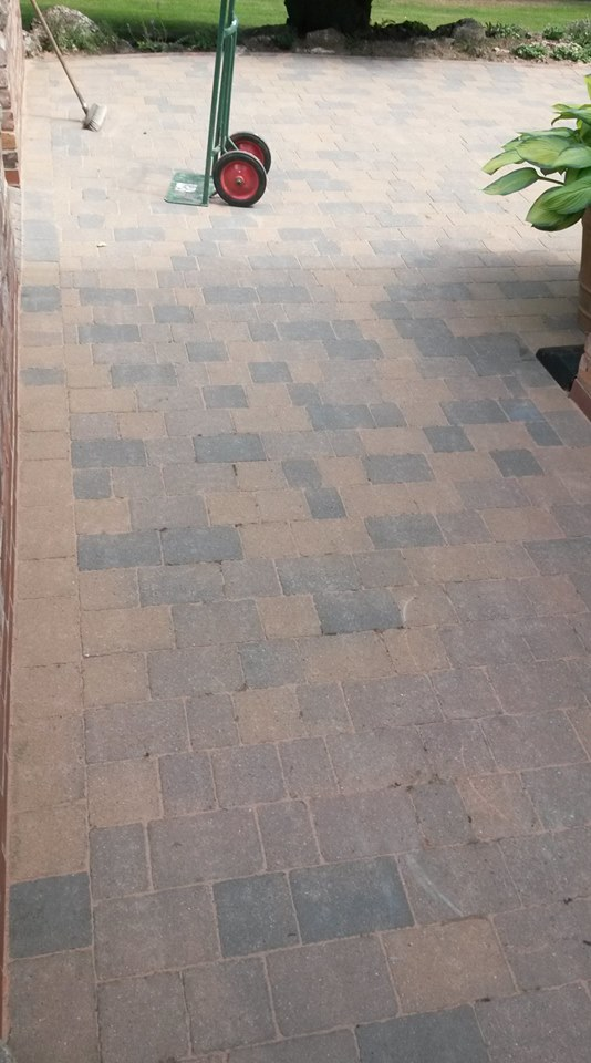 cleaning patio tiles