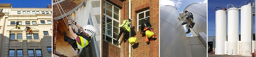 Rope access painting and window cleaning services